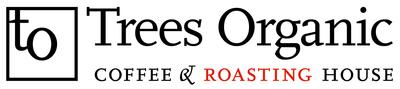 Medium trees organic coffee logo