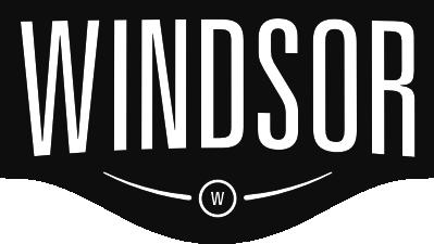 Medium windsor white on black