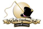 Small jolly coachman pub   liquor store logo
