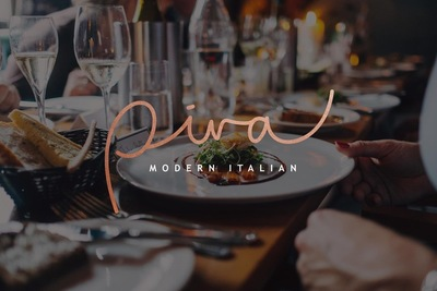 Medium piva modern italian logo background