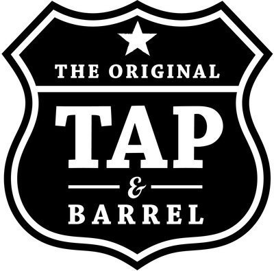 Medium medium tap and barrel logo black