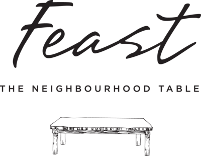 Medium feast logo vertical black