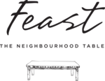 Small feast logo vertical black