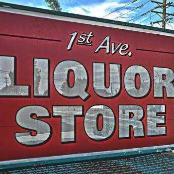 Medium 1st ave liquor store logo