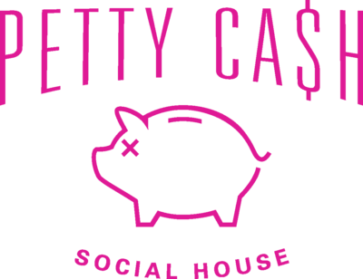 Medium petty cash logo piggy smalls pink