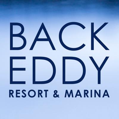 Medium backeddy marine resort waterfront logo